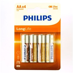 Battery Pk4 Aa Longlife H/D Philips
