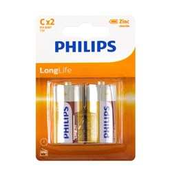Battery Pk 2 Size C Longlife H/D Philips