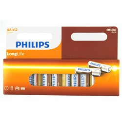 Battery Pk 12 AA Longlife H/D Philips
