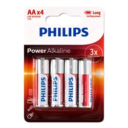 Battery Pk 4 AA Alkaline Philips