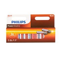 Battery Pk 12 Aa Alkaline Philips