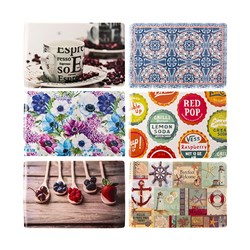 Placemat PVC 6 Asstd Designs 430x285mm