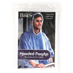Poncho Hooded Adult 132x203cm Clear