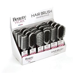 Hair Brush 21.5cm 4 Asstd Styles PDQ