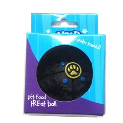 Dog Food Ball w Sound Black BLACK
