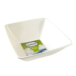 Bowl Big Square 28x28cm Pk2 White