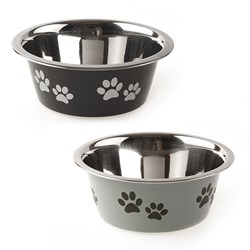 Pet Bowl Stainless Steel 16cm 800ml 2 Asstd Colours