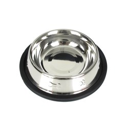 Dog Bowl Embossed S.Steel 550ml