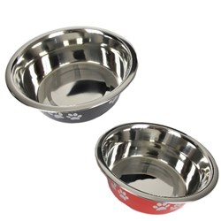 Pet Bowl Stainless Steel 20cm 2 Asstd Colours 1700ml