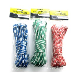 Rope 20m 3 Asstd Cols Red / Blue / Green