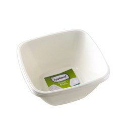 Bowl Nut Plastic 14.7x14.7cm White Pk4