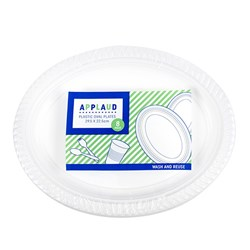 Plate Oval Pk8 White 295x225mm