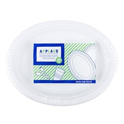Platter Oval Pk40 White 295x225mm