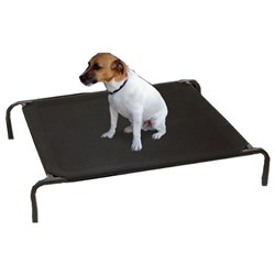 Bed Pet Off The Ground Small 90x65cm Black