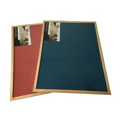 Corkboard Wooden Frame 600x450mm Coloured 2 Asstd