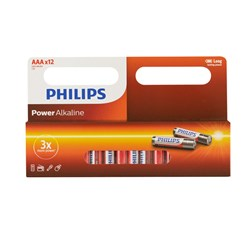 Battery Pk 12 Aaa Alkaline Philips