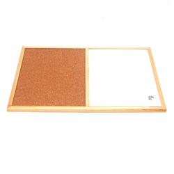 Combo Corkboard Whiteboard Wooden Frame 600x400mm