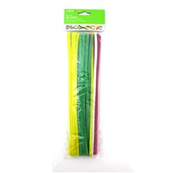 Craft Chenilles Pipe Cleaners PK55 6mmx30cm Asstd Cols