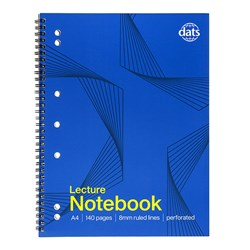 Notebook Basic Card Cover A4 Lecture 140pg