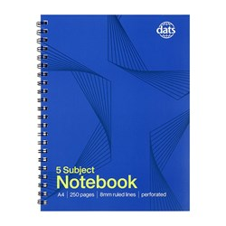 Notebook Basic Card Cover A4 5 Sub 250pg
