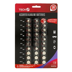 Batteries Cell Asstd Sizes 30 Piece Set