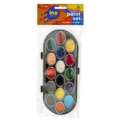 Paint Set 16 Cols W Brushes