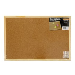 Corkboard Wooden Frame 600x400mm