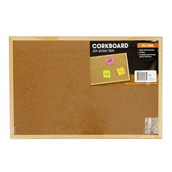 Corkboard Wooden Frame 450x300mm