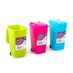 Bin Wheelie Mini Desk Accessory 3 Asstd Cols