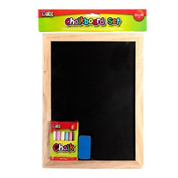 Chalkboard Wooden Frame 230x300mm w Accessories