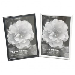 Frame Photo Basic 13x18cm / 5x7inch Asstd Black or White