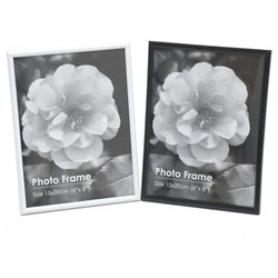 Frame Photo Basic 15x20cm / 6x8inch Asstd Black or White