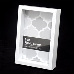 Frame Photo Box 10x15cm / 4x6inch White