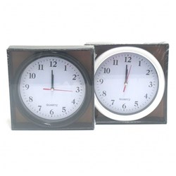 Clock Wall 20x20cm Basic 2 Asstd Black or White