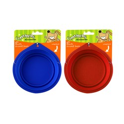 Bowl Pet Travel 2 Asstd Colours Blue Red