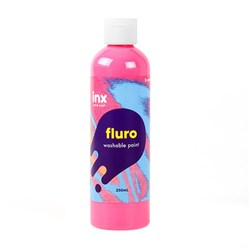 Paint Washable Bottle 250ml Fluro Pink