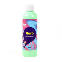 Paint Washable Bottle 250ml Fluro Green