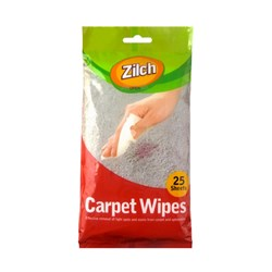 Wipes Carpet Pk25 18x19cm
