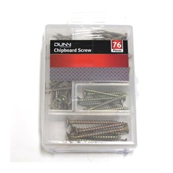 76Pcs Chipboard Screw Set