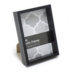 Frame Photo Box 13x18cm / 5x7inch Black