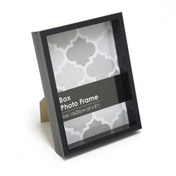 Frame Photo Box 15x20cm / 6x8inch Black