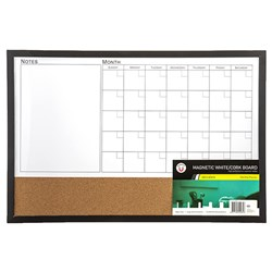 Combo Board Magnetic Calendar Corkboard 600x400mm