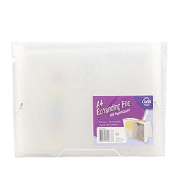 File Expanding PP A4 13Pockets w Elastic Closure Clear