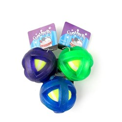 Dog Toy Boingo Ball 7.5cm 3 Asstd Cols Green Blue Purple