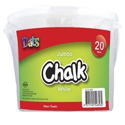 Chalk Jumbo White 20pk in Bucket