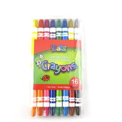 Crayon Propelling Double Ended 8pk in PVC Wallet