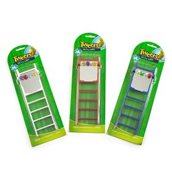 Bird Toy Ladder With Mirror 3 Asstd Colours
