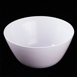 Melamine Bowl Chip Large White 24x24x10.9cm