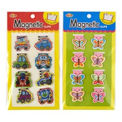 Clip Magnetic Bookmark 8pc 2 Asstd