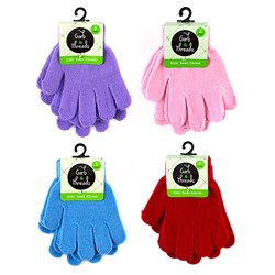 Gloves Kids Plain Coloured 2pk Asstd
